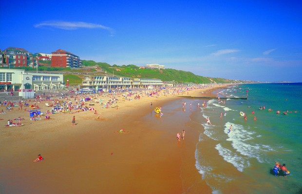 Bournemouth's blue flag beach